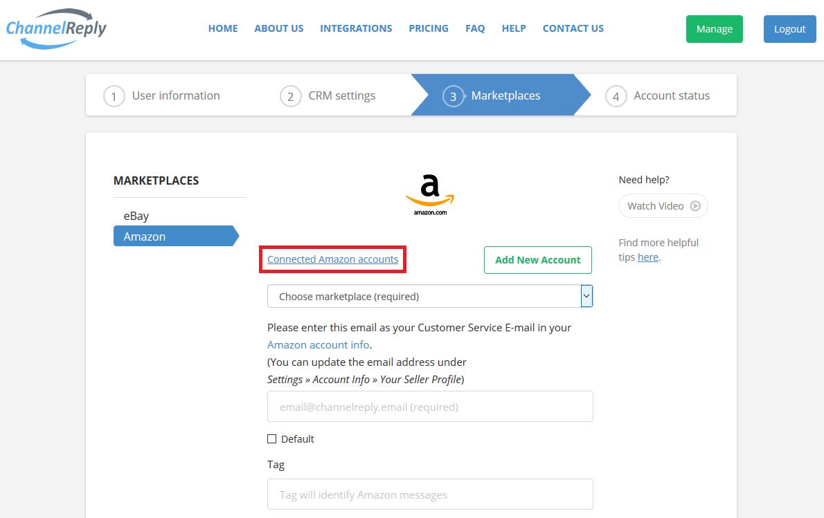 Connected Amazon Accounts
