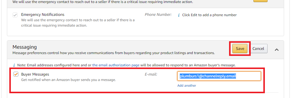 Save New Buyer Messages Email