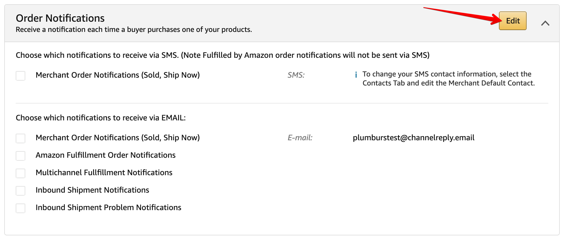 Edit Amazon Order Notifications
