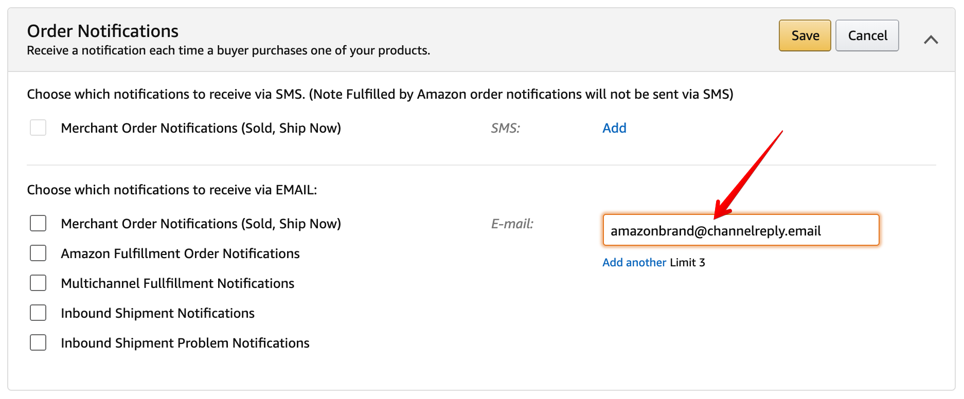 How to Send Amazon Notifications through ChannelReply