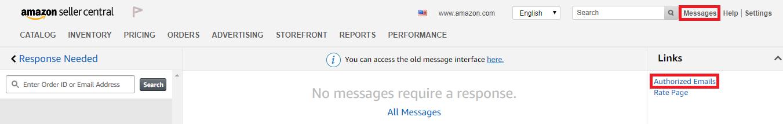 Authorized Emails in Amazon