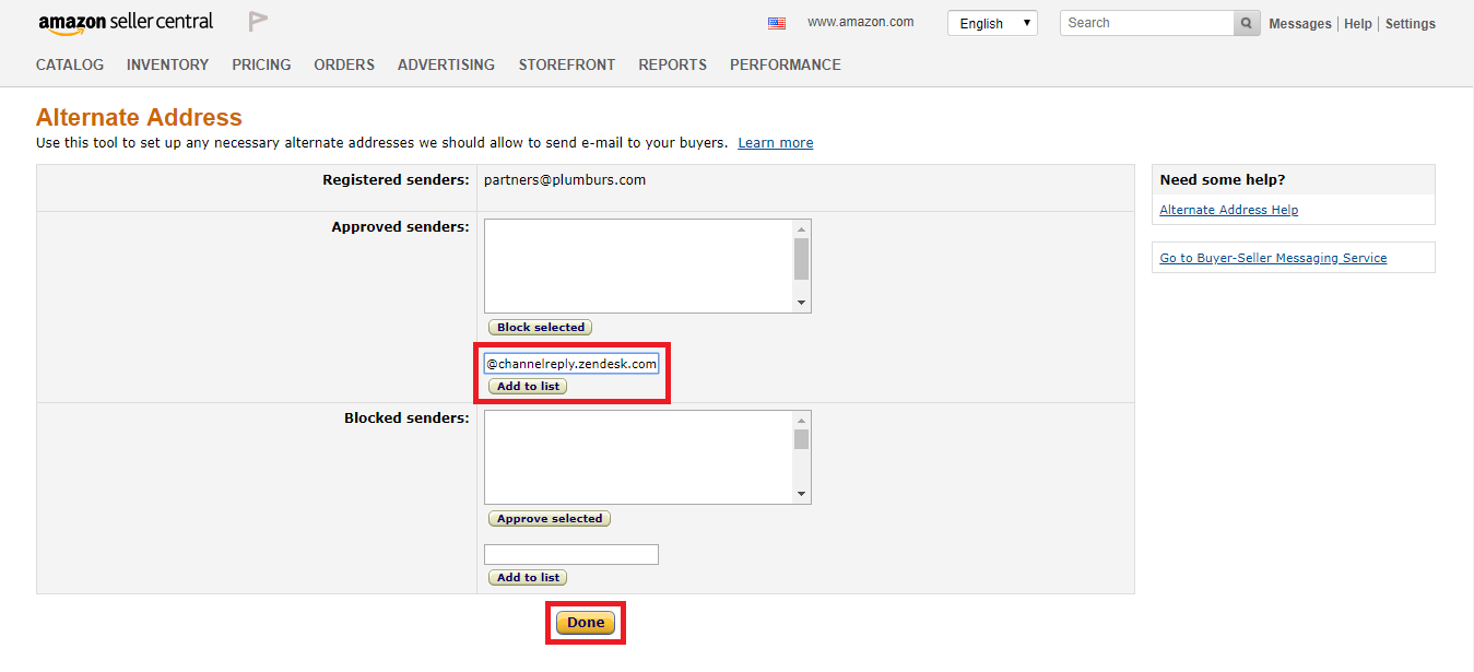 Add Email Address to Approved Senders in Amazon