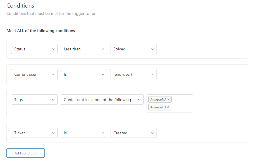 Zendesk Autoresponder Conditions—Reply Once per Ticket
