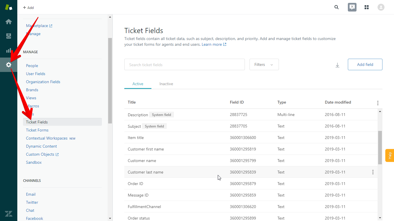 Ticket Fields in Zendesk
