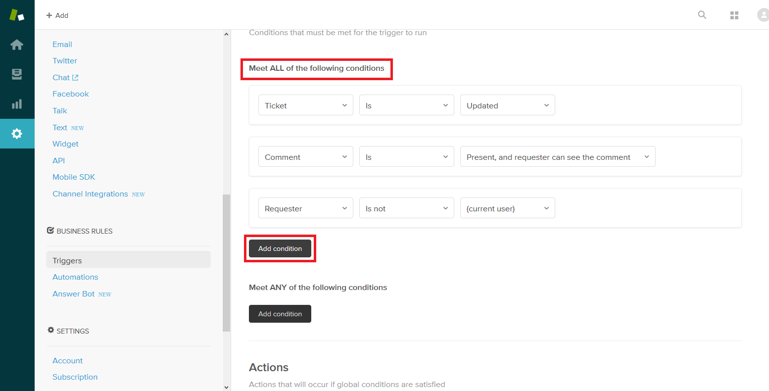 Adding an ALL Condition to a Zendesk Trigger