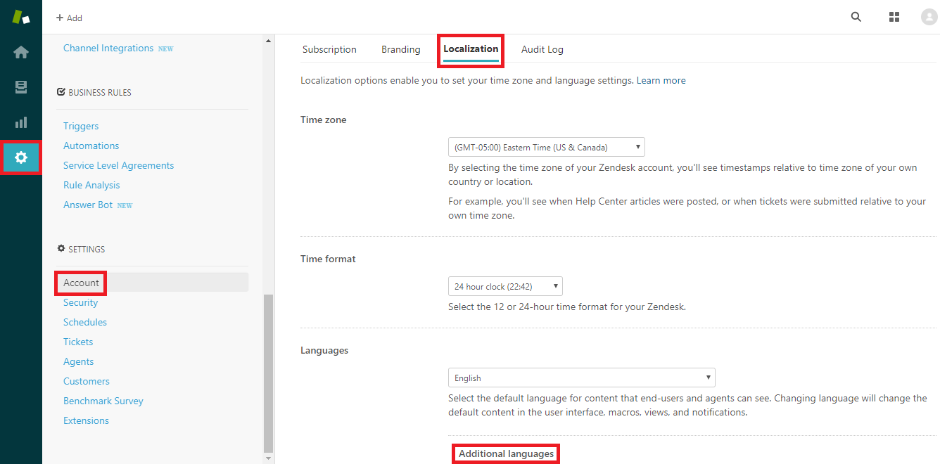 Adding Languages in Zendesk