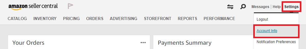 Amazon Account Info