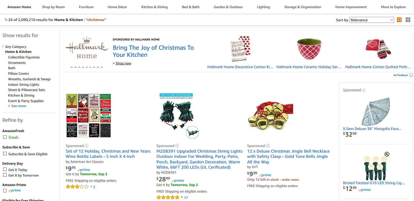Christmas Products on Amazon