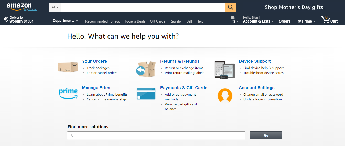 Amazon CRM Strategy: Help Center