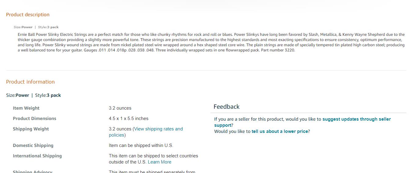 Amazon Product Page Below Fold