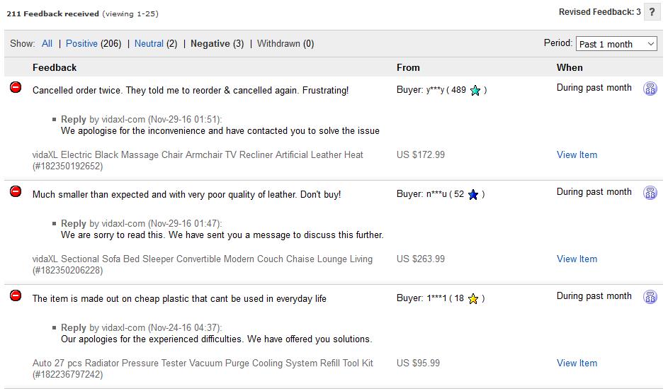How to respond to negative feedback on ebay responding to negative feedback on ebay with an apology spiritdancerdesigns Gallery