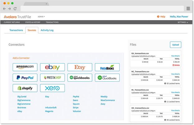 Avalara TrustFile Screenshot