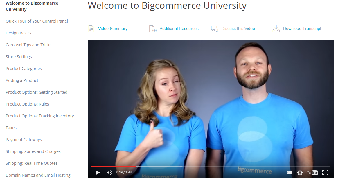 Bigcommerce University