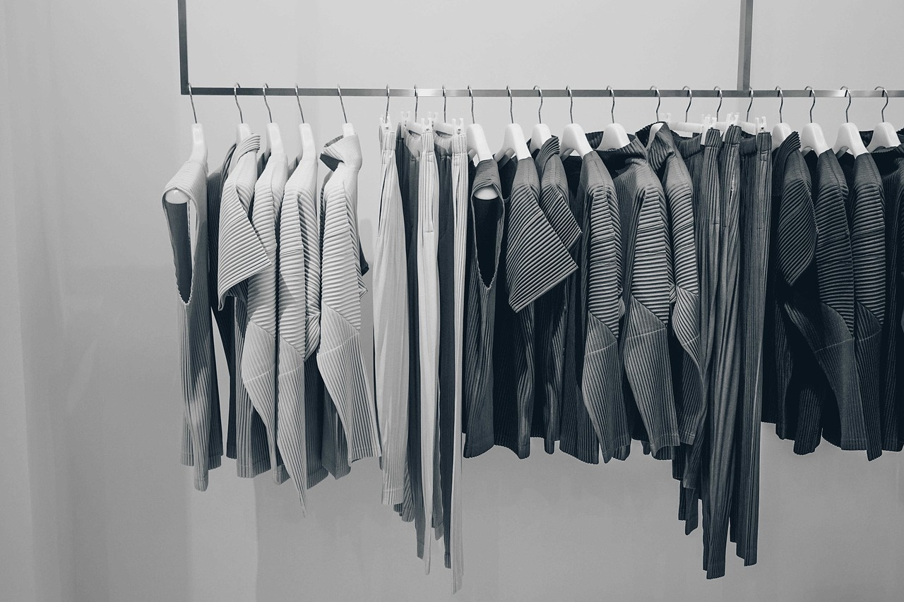 Women's Clothing on a Rack