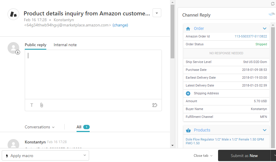 ChannelReply's Amazon Messaging Service