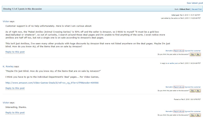 Amazon Help Forum