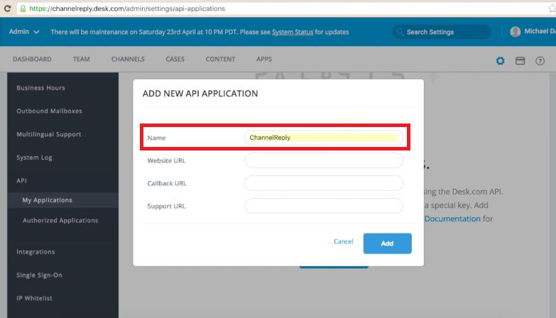 Add New API Application