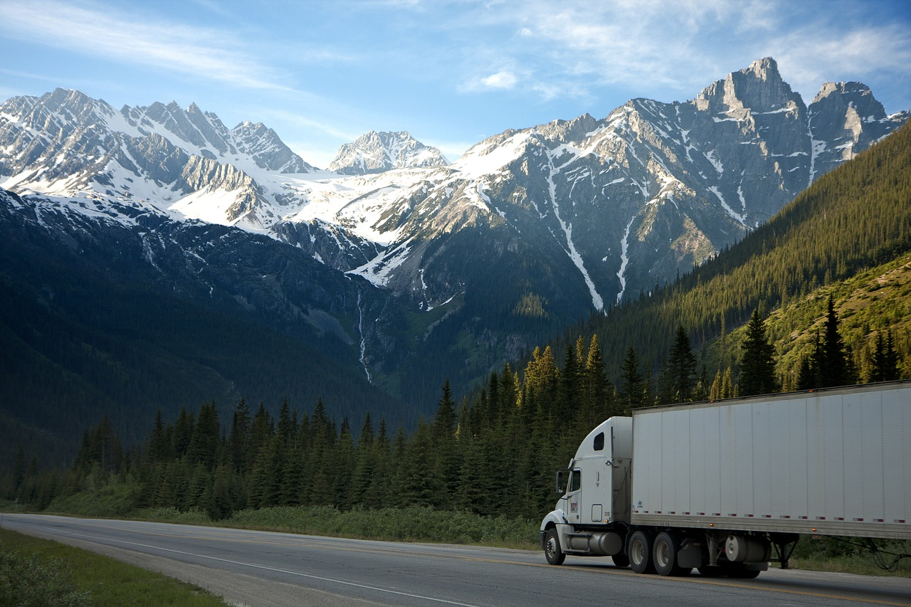 Delivery Truck in Mountains