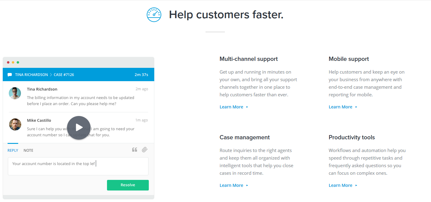 Desk.com Customer Service Case
