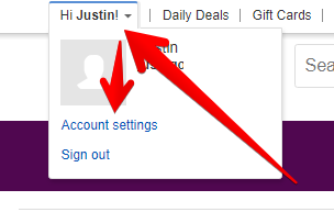 eBay Account Settings