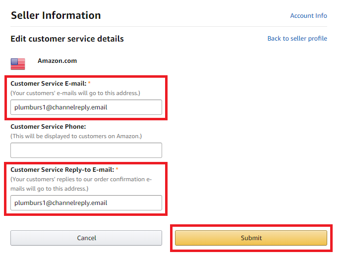 Edit Customer Service Details