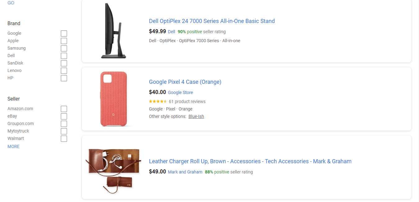 Electronics Accessories on Google Shopping