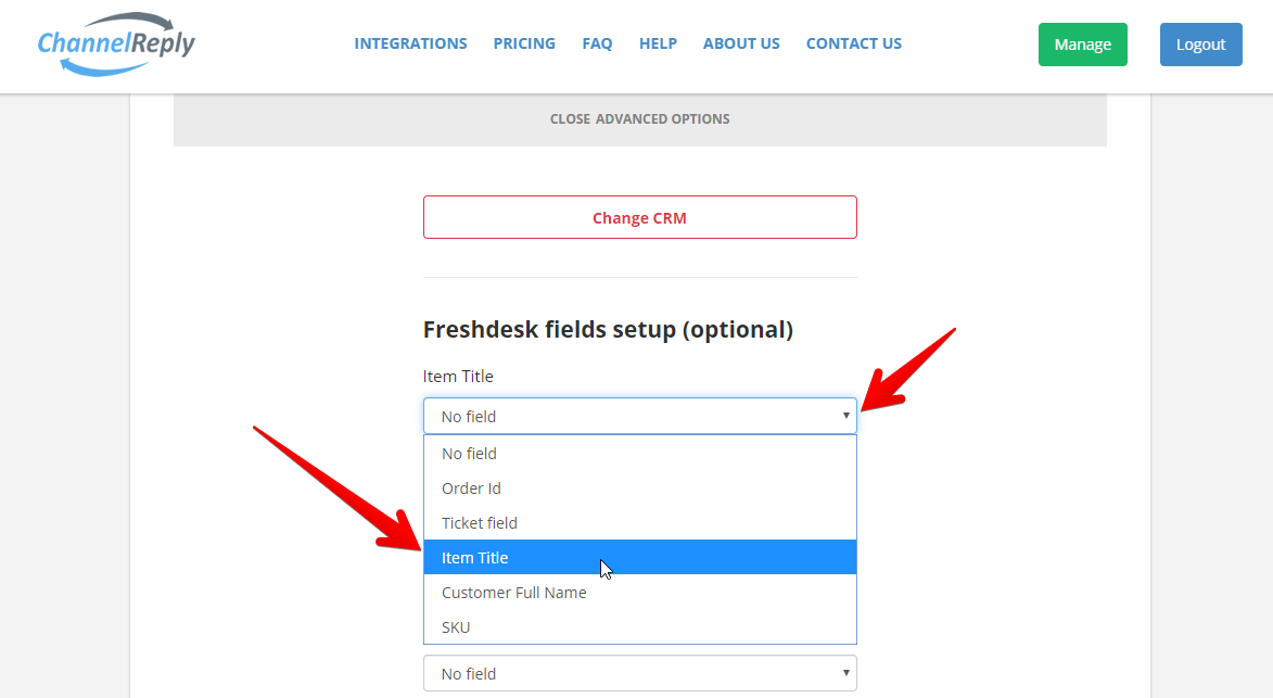 Freshdesk Ticket Fields in ChannelReply