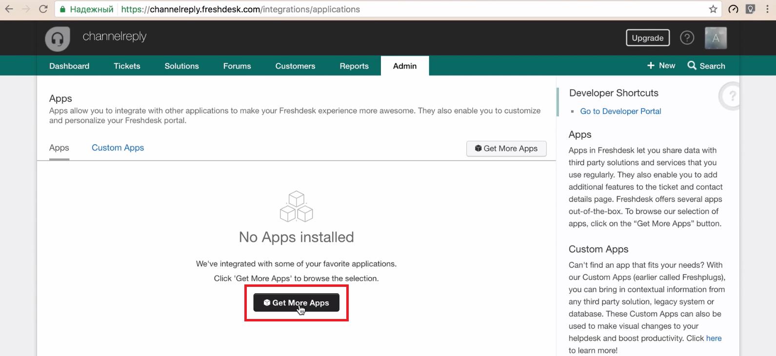 Get More Apps in Freshdesk