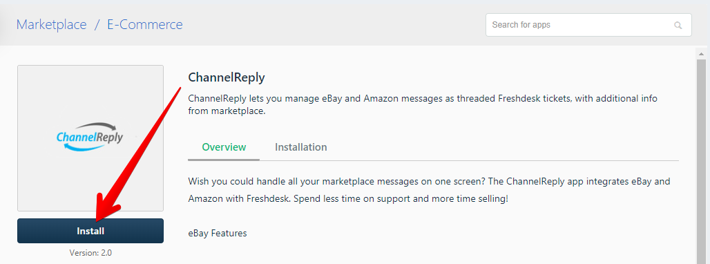 ChannelReply Page on Freshdesk