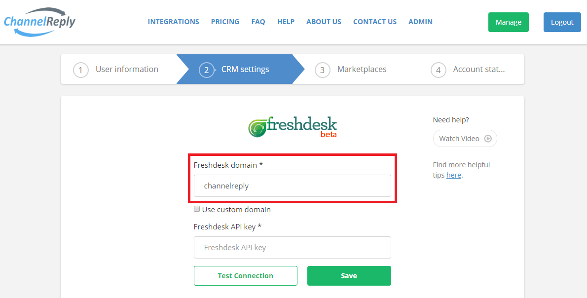 How to Enter a Freshdesk Domain