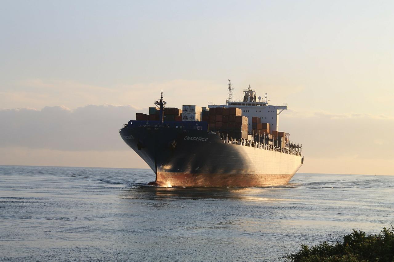 Freighter Underway