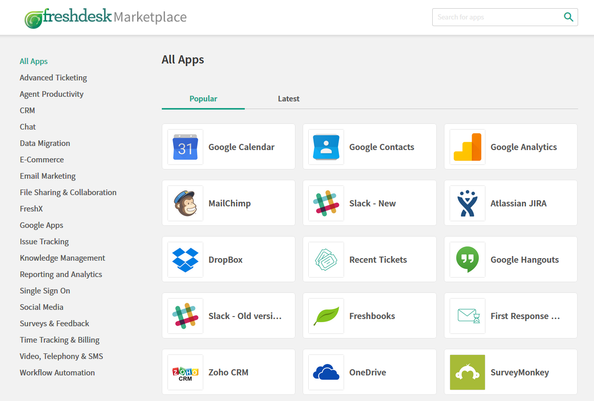 Freshdesk Apps