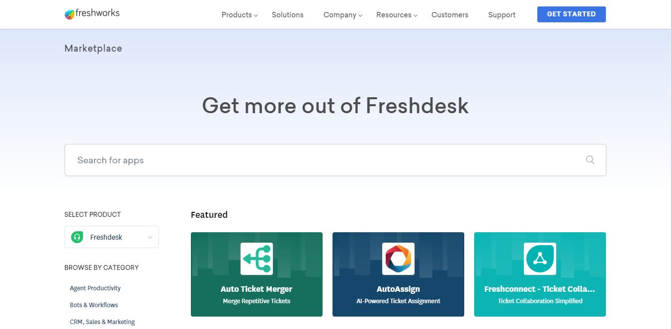 Freshdesk Apps Search