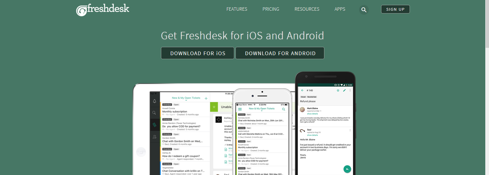 Freshdesk Mobile Apps