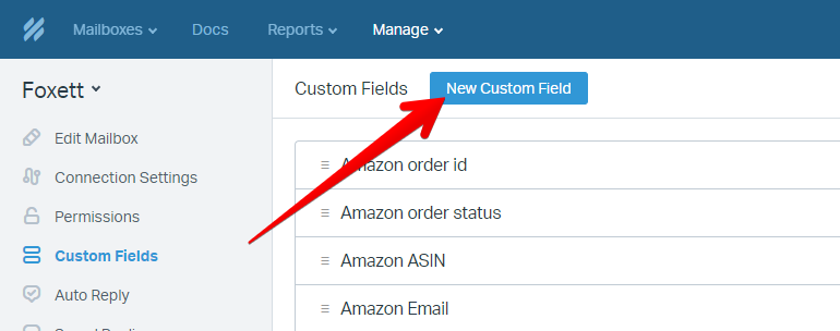 New Custom Field Button