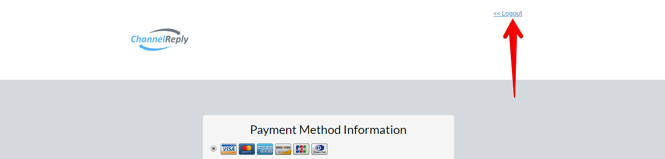 Logout Text in Payment Portal