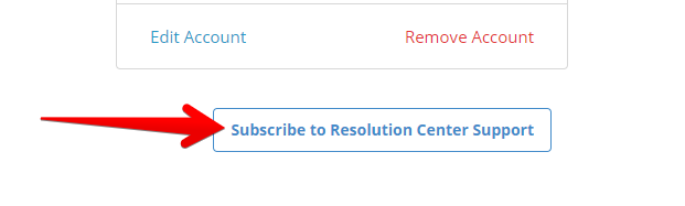 Subscribe to Resolution Center Support