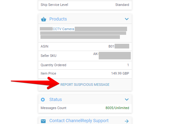 Report Suspicious Message Button in the ChannelReply Zendesk App