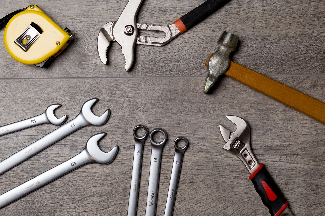 Set of Tools on a Table