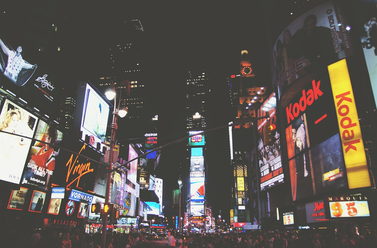 Times Square Advertisements at Night