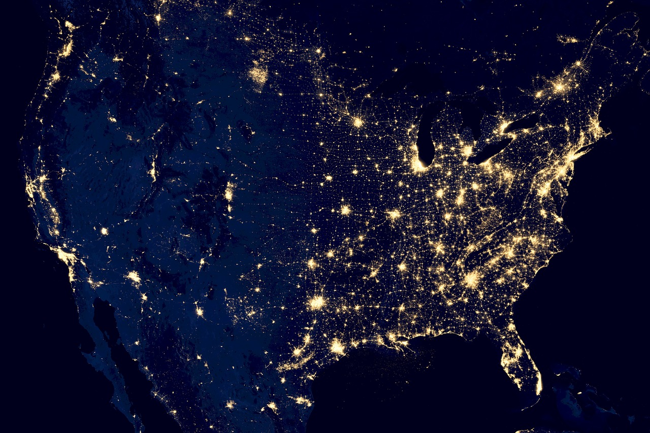 The United States at Night