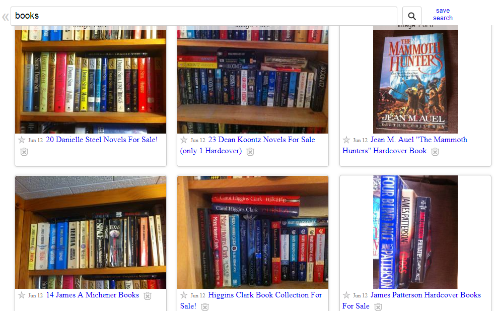 Used Books Lot Search on Craigslist