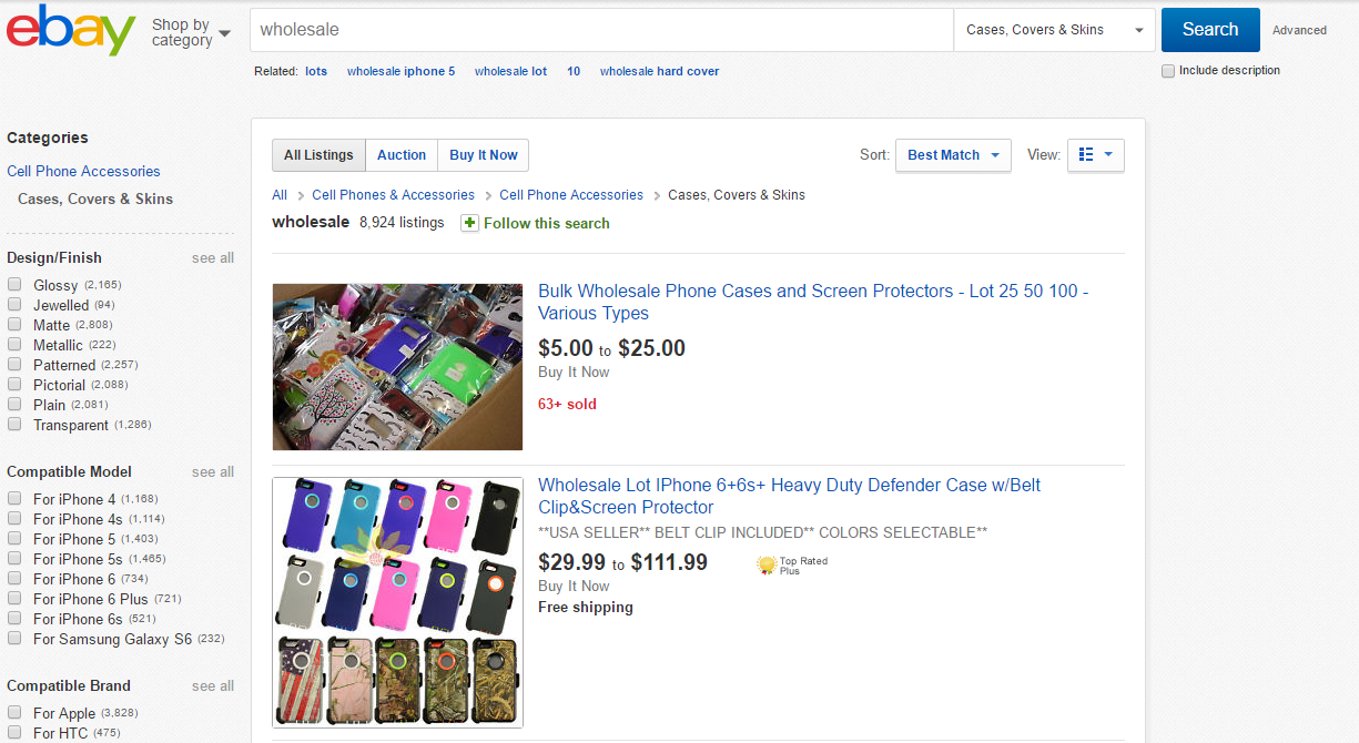 Wholesaling on eBay