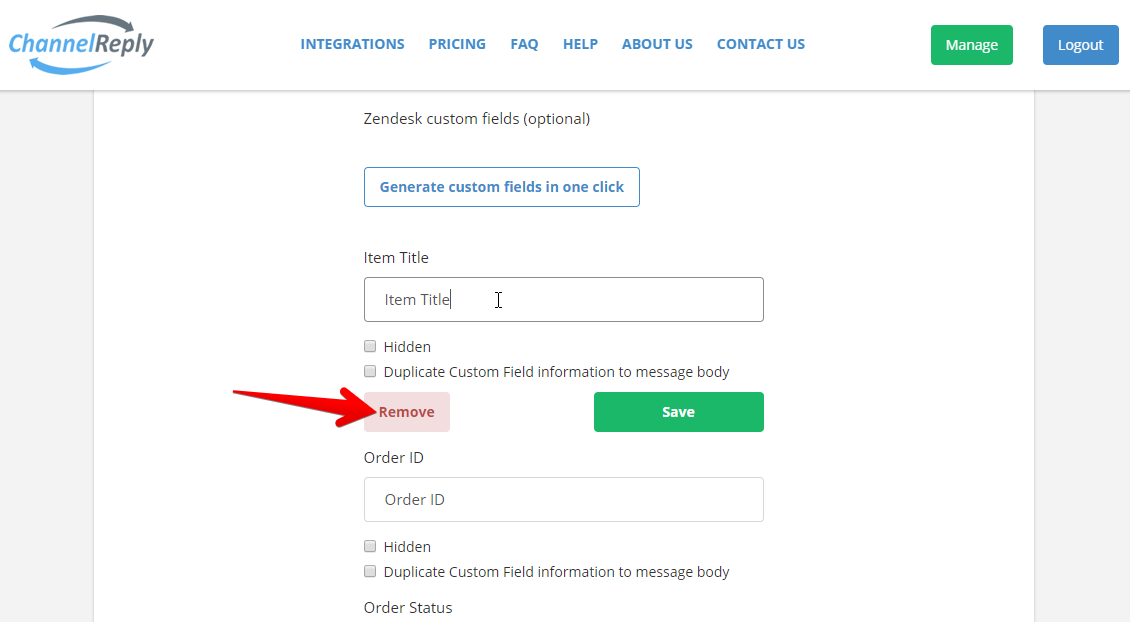 How to Delete a ChannelReply Custom Field