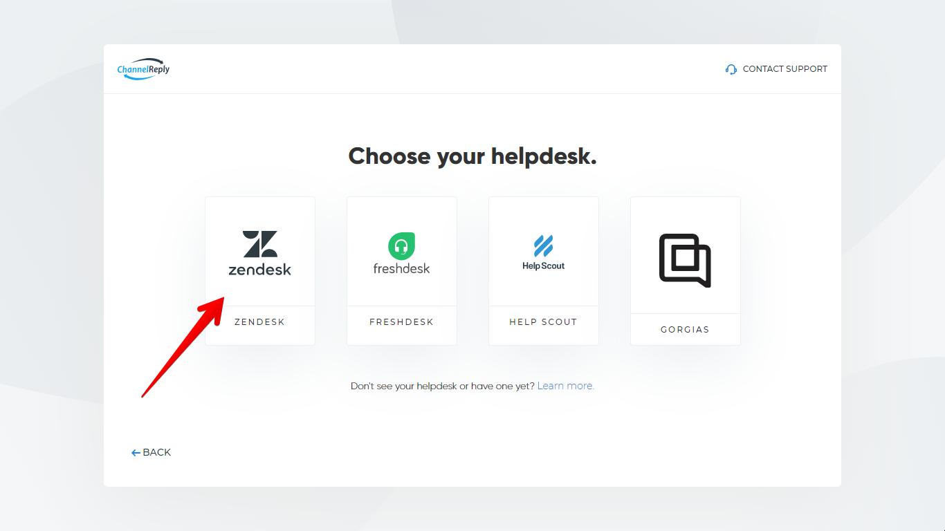 Select Zendesk in ChannelReply