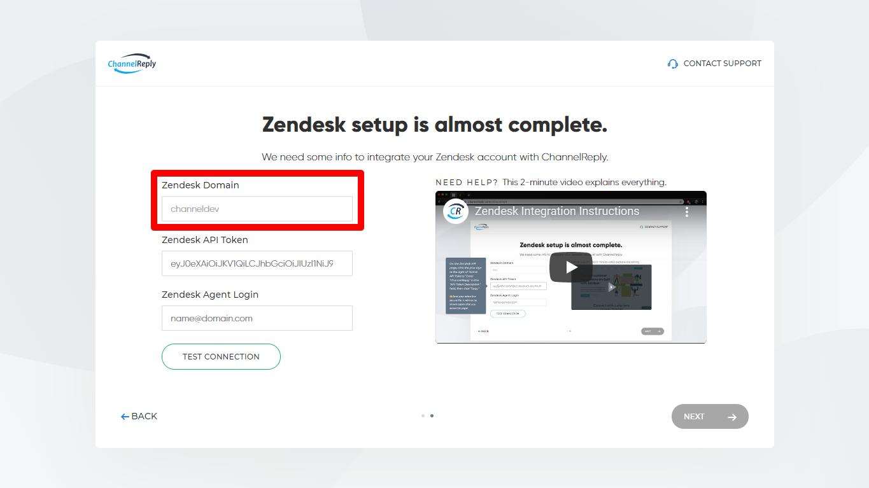 Zendesk Domain Example
