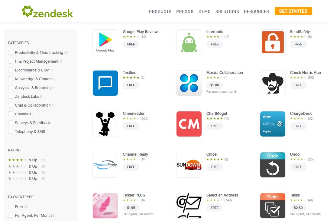 Zendesk App Marketplace