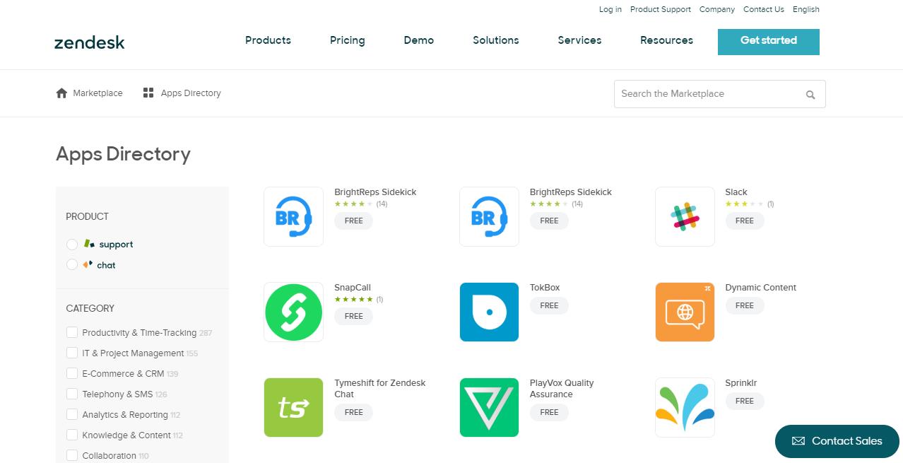 Zendesk Apps Directory