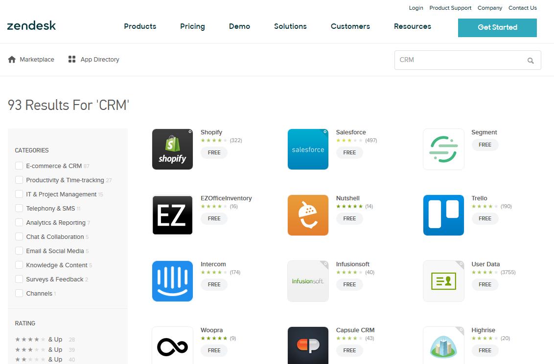 Zendesk CRM Apps