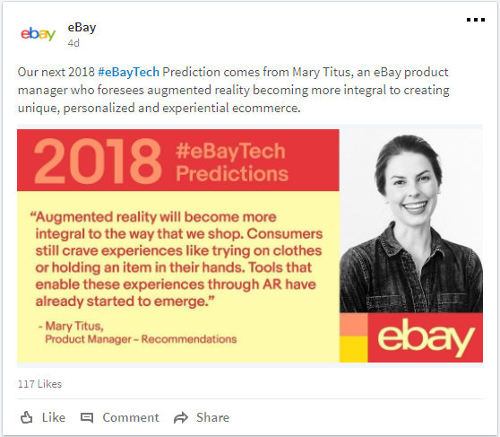 eBay AR Prediction by Mary Titus on LinkedIn